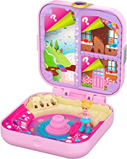 Polly Pocket Hidden Hideouts Polly Candy Adventure Compact, Micro Doll and Accessories, Multi