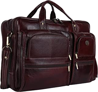 Hammonds Flycatcher Leather 20 L Brown Briefcase