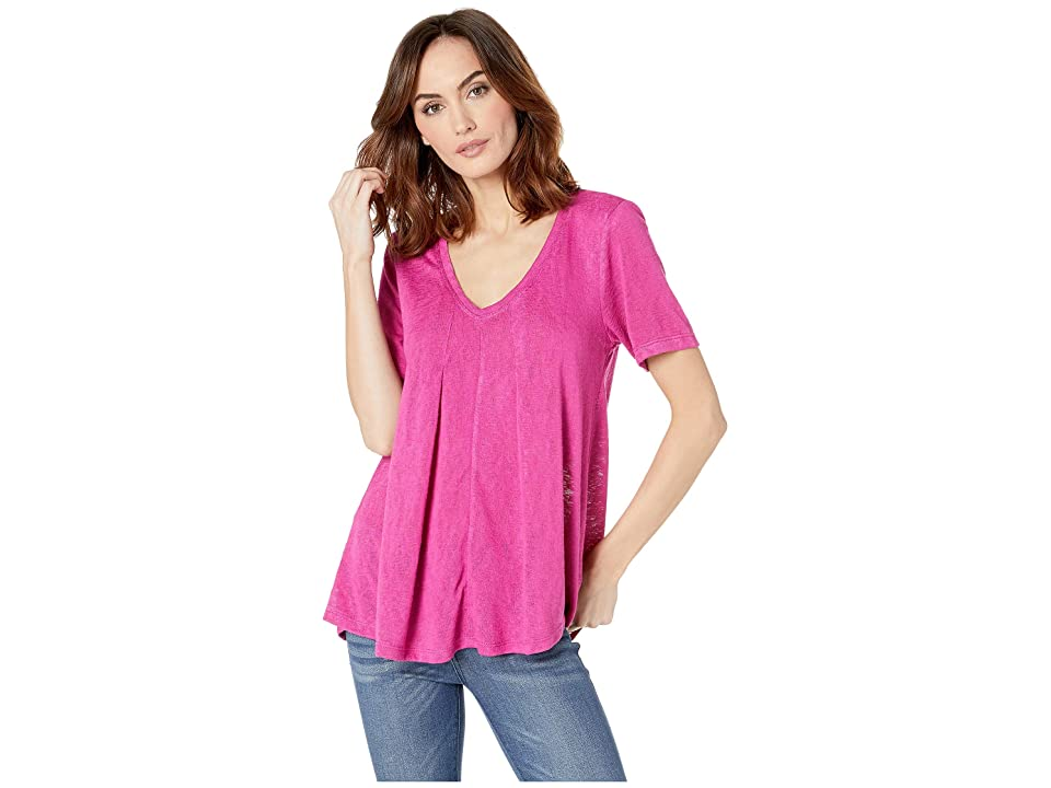 B Collection by Bobeau Annabel Swing Top (Fuchsia) Women's Short Sleeve Pullover, Pink