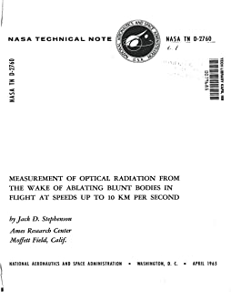 Measurement of optical radiation from the wake of ablating blunt bodies in flight at speeds up to 10 km per second