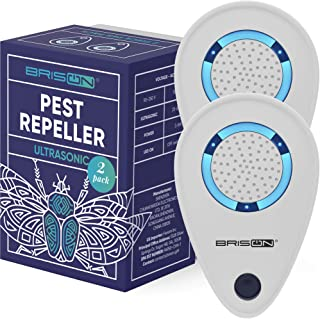 Ultrasonic Pest Reject Repeller - Plug in Electronic Non-Toxic Device - Electromagnetic and Ultrasound Control - Repellent for Mice Rats Bed Bugs Spiders Rodents Insects - Indoor [2 Pack]
