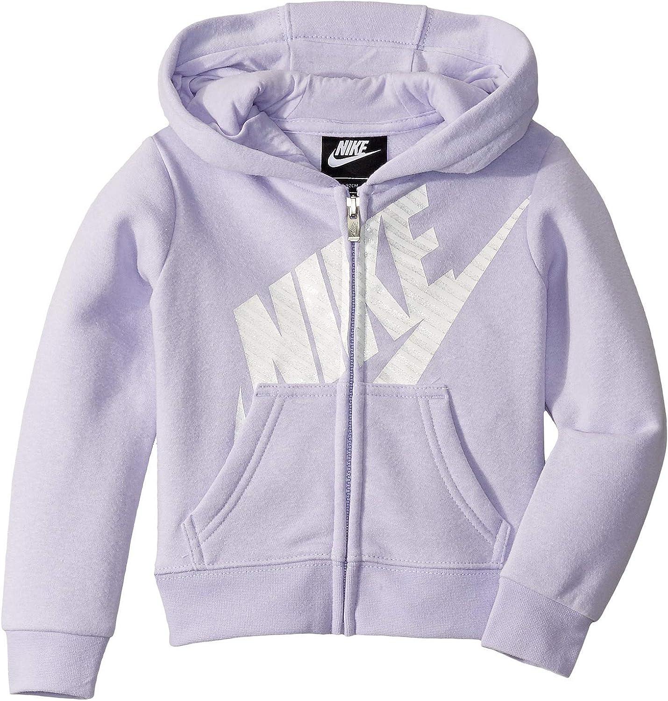 Nike Kids Baby Girl's Futura Full Zip Hoodie (Toddler) Lavender Mist 2T Toddler