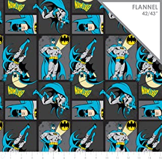 DC Comics Flannel Batman in Carbon Flannel Fabric by The Yard