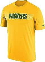 Nike Men's Green Bay Packers Gold Sideline Seismic Legend Performance T-Shirt
