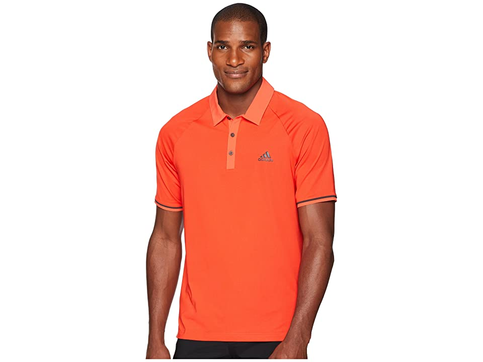 adidas Golf CLIMACOOL(r) Jacquard Raglan Polo (Hi-Res Red) Men