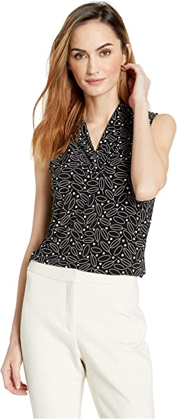 Ragtime Print ITY Triple Pleat Top