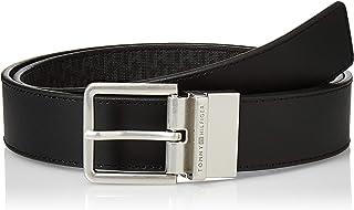 حزام عصري قابل للاستخدام على الجهتين للرجال من تومي هيلفجر عرض 3.5 سم، اسود، 100 سم