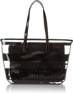 Love Moschino Borsa Pu Trasp. +pu Nero, Women's Tote, Black (Black Transperent), 9x29x40 cm (B x H T)
