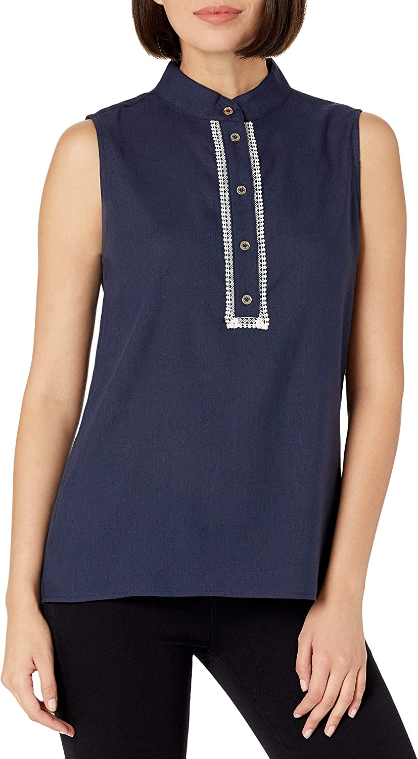 Tommy Hilfiger Women's Award-winning 2021new shipping free shipping store Classic Collared Sleeveless- Button Front