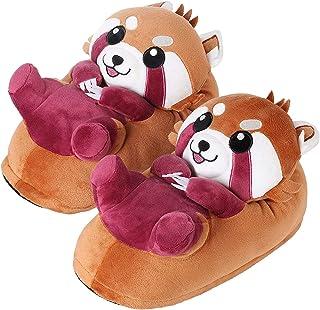 corimori Ponva el Panda Rojo Zapatillas De Casa Niños (10 + Modelos) Talla Única 25-33,5, Color Marrón-Rojo (1847)