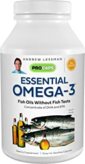 Andrew Lessman Essential Omega-3 Orange - 180 Softgels - Ultra-Pure, High Potency Omega-3 Oils. High DHA, No Stomach Upset...