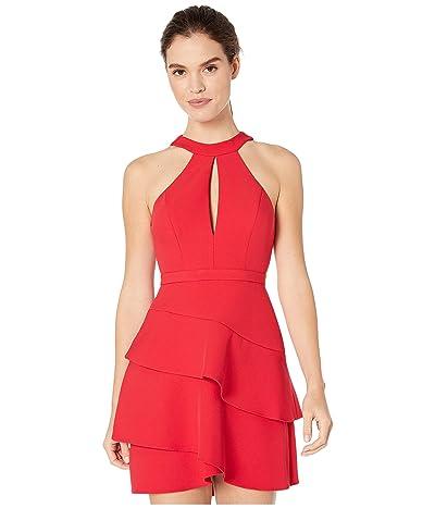 BCBGMAXAZRIA Eve Short Woven Dress (Rio Red) Women