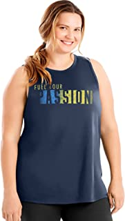 Just My Size Women's Plus Size Active Graphic Muscle Tank
