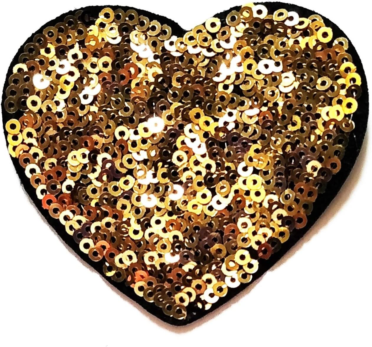 Nipitshop Patches Love Heart wholesale Surprise price Beautiful S Sequin Shine Gold