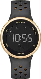 Armitron Sport Quartz Sport Watch with Silicone Strap, Black, 22 (Model: 40/8423GBK)