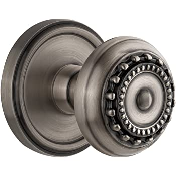 2.375 Polished Nickel Privacy Grandeur Georgetown Rosette with Parthenon Knob