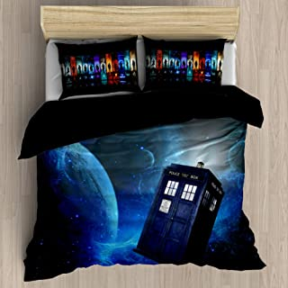 FEIDANNO Doctor Who Duvet Cover Sets Twin Size, Theme of Movie Home Decorative 2 Piece Bedding Set with 1 Pillow Sham.(Navy Blue, Twin/Twin XL $54.9)