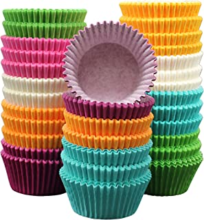 MontoPack 300-Pack Holiday Party Paper Baking Cups - No Smell, Safe Food Grade Inks and Paper Grease Proof Cupcake Liners Perfect Cups for Cake Balls, Muffins, Cupcakes and Candies