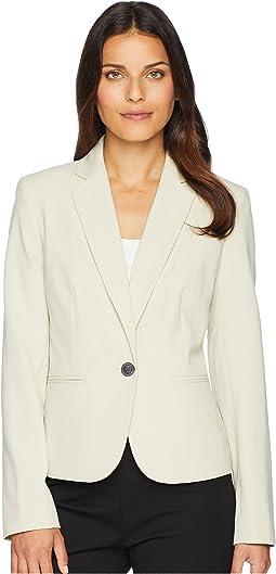 Bi Stretch One-Button Jacket