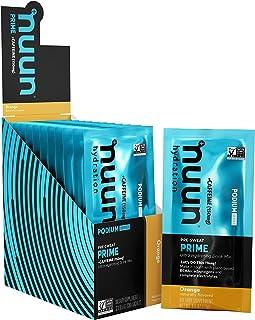 Nuun Prime   Pre-Workout Drink Powder   Orange Flavor   Vegan BCAAs, Electrolytes, Adaptogens  (12 Servings - Sachet)