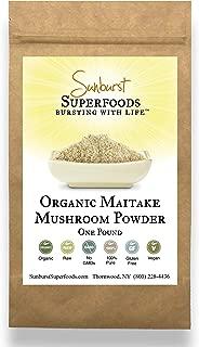 Sunburst Superfoods Maitake Mushroom Powder- Organic Mushroom Maitake Powder for Food& Drinks- Nutritious Toxin-Free Mushroom Powder (16 Ounce)