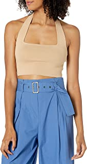 The Drop Women's Greta Fitted Square Neck Halter Sweater Bralette
