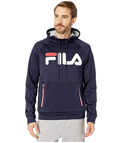 Fila Ezra Tech Hoodie (Peacoat/White/Chinese Red) Men
