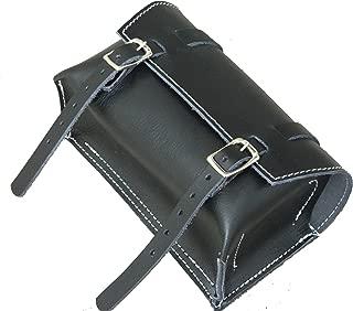 Genuine Leather Bicycle Saddle Box Bag Vintage Bag Black ws