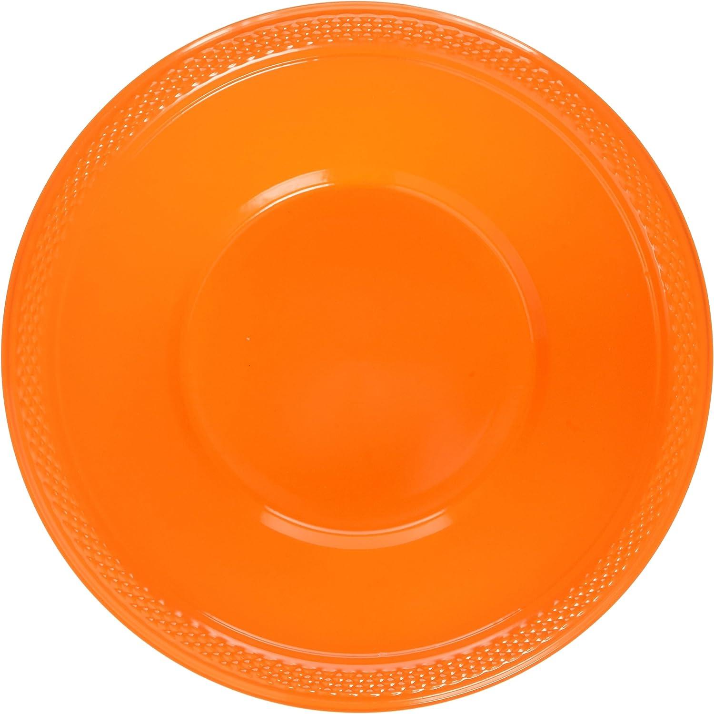 Amscan Import Plastic Bowls Orange Popular overseas Peel 12oz