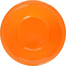 Orange Plastic Bowls Party Supply