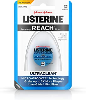 Listerine Ultraclean Dental Floss, Oral Care, Mint-Flavored, 30 Yards ( Pack of 6)
