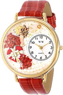 Whimsical Watches Unisex G1220033 Valentine's Day Red Leather Watch