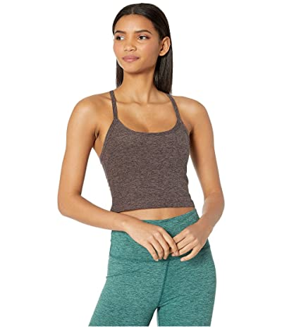 Beyond Yoga Spacedye Slim Racerback Cropped Tank Top (Terra Leather/Earth) Women
