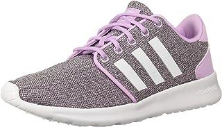 adidas Women's Cloudfoam QT Racer Running Shoe, Clear Lilac/White/Black, 8 M US