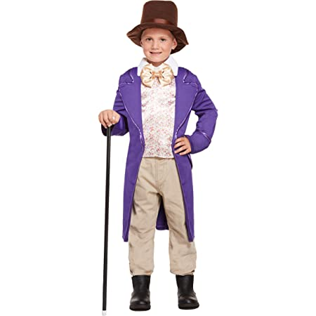 Roald Dahl Smiffys Willy Wonka Et/à 10-12 Childrens Costume Large 158 centimetri