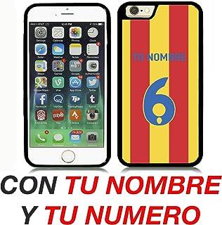 adf39c61770 VALENCIA CF CARCASA PERSONALIZADA IPHONE 6 4.7` CON TU NOMBRE Y TU NUMERO  FUTBOL COLORES