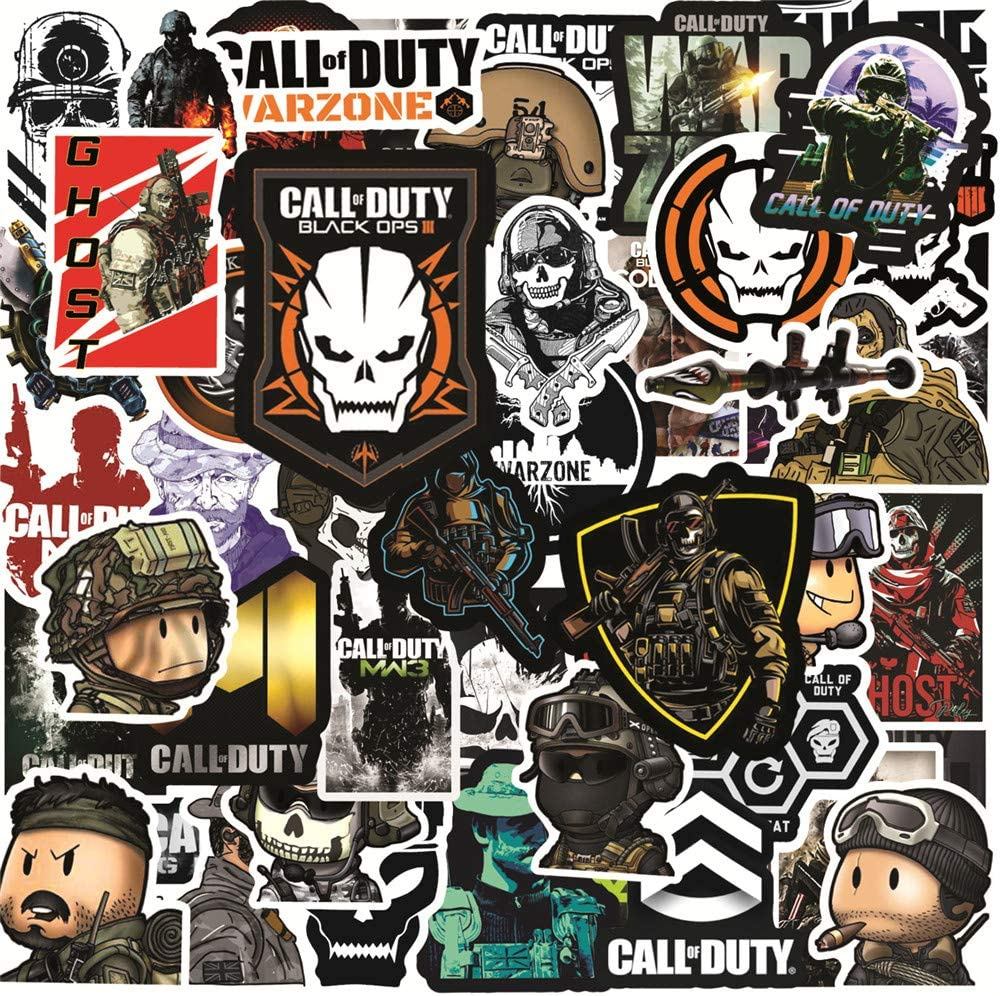 23. 50pcs Gaming Call of Duty - Waterproof Vinyl Stickers