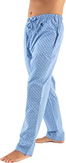 El B/úho Nocturno Pantaloni da Pigiama Premium Lunghi a Quadri da Uomo Taglia XXXL Speciali Invernali Flanella Navy y Blanco 100/% Cotone The Gentlemens Choice