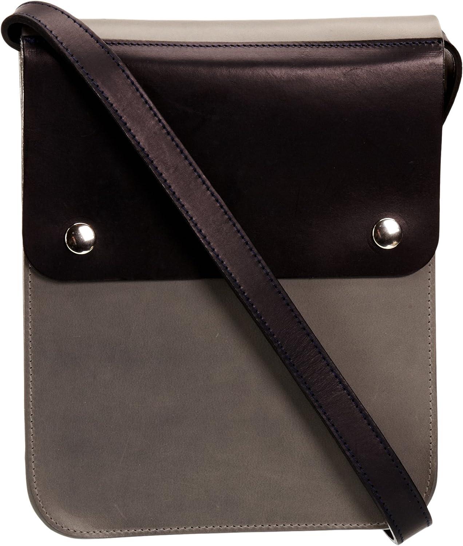 Kate Sheridan Sheridan Sheridan Leather Uk Pop KS449, Damen Messengertasche, Grau (grau Navy) B00B7W6US6 2919a0