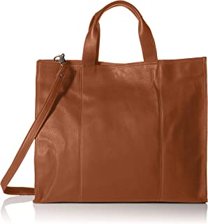 Piel Leather Carry-All Tote, Saddle