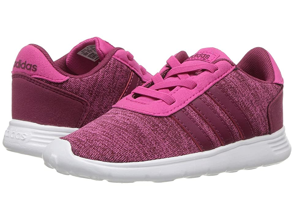 adidas Kids Lite Racer (Infant/Toddler) (Real Magenta/Mystery Ruby/White) Kids Shoes