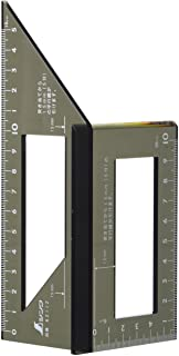 シンワ測定(Shinwa Sokutei) 一発止型定規 ポリカーボ 62112