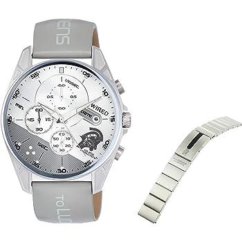 [セイコーウォッチ] 腕時計 ワイアード コジマプロダクション wena コラボレーションモデル 限定500本 ルーデンスモチーフ シルバー&グレー文字盤 wenaバンド付き AGAT730 メンズ グレー