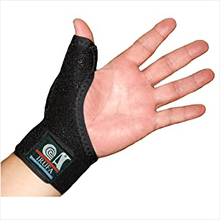Best IRUFA, 3D Breathable Spacer Fabric Reversible CMC Joint Thumb Stabilizer, Splint Spica, Abducted Thumb for BlackBerry Thumb, Trigger Finger, Mommy Thumb, One PCS (Regular) Review