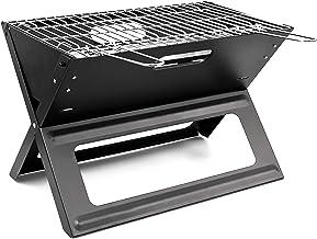 Relaxdays Grill Plegable 10017881-Grill, Negro, 45.5x30x30.5 cm