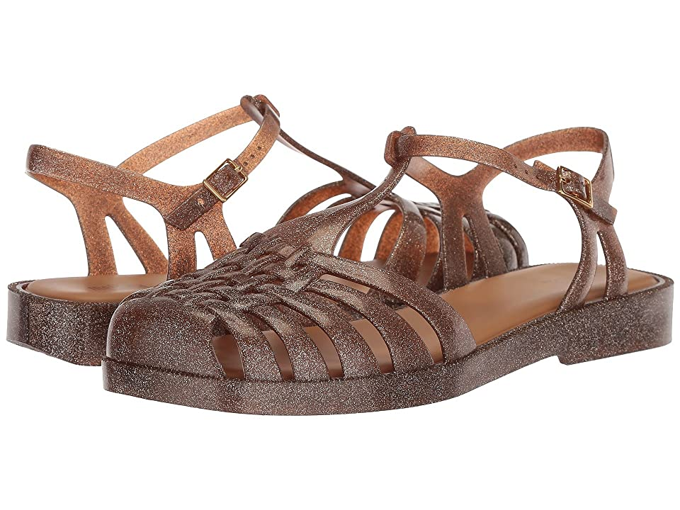 Melissa Shoes Aranha Quadrada (Light Brown Glitter) Women