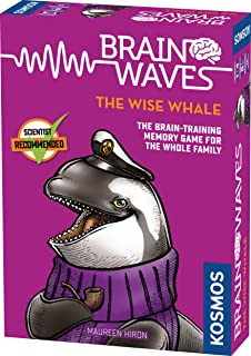 Thames & Kosmos 690861 Brainwaves: The Wise Whale   Brain-Training Fun for The Whole Family   Quick Memory Game, 1-5 Playe...