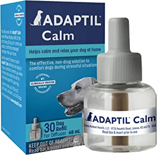 Adaptil Dog Calming Diffuser Refill (1 Pack, 48 ml), Vet Recommended, Reduce Problem Barking, Chewing, Separation Anxiety ...