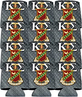 VictoryStore Can and Beverage Coolers - Kappa Sigma, Steel Plate Design, Set of 12