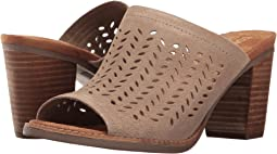 Desert Taupe Suede Perforated Leaf